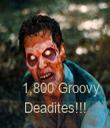1,800 Groovy Deadites!!! - Personalised Tea Towel: Premium