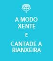 A MODO XENTE E CANTADE A RIANXEIRA - Personalised Tea Towel: Premium