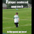 A player centered approach to the game we love! - Personalised Tea Towel: Premium