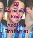 Annabeth Keep Calm  And love Finn harries - Personalised Tea Towel: Premium