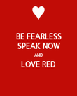 BE FEARLESS SPEAK NOW AND LOVE RED  - Personalised Tea Towel: Premium