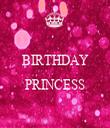 BIRTHDAY  PRINCESS  - Personalised Tea Towel: Premium