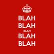 BLAH BLAH BLAH BLAH BLAH - Personalised Tea Towel: Premium