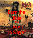 Burn the Bible And Listen To Slayer - Personalised Tea Towel: Premium