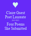 Claire Guest Poet Laureate 2012-2013 Four Poems She Submitted - Personalised Tea Towel: Premium
