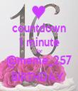 countdown 1 minute for @meme_257 BIRTHDAY  - Personalised Tea Towel: Premium