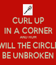 CURL UP IN A CORNER AND HUM WILL THE CIRCLE BE UNBROKEN - Personalised Tea Towel: Premium