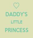 DADDY'S LITTLE PRINCESS  - Personalised Tea Towel: Premium