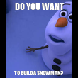 DO YOU WANT TO BUILD A SNOWMAN? - Personalised Tea Towel: Premium