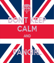 DON'T KEEP CALM AND  FANGIRL - Personalised Tea Towel: Premium