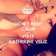 DON'T KEEP CALM AND VOTE KATHERINE VELIZ - Personalised Tea Towel: Premium