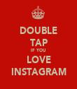 DOUBLE TAP IF YOU LOVE INSTAGRAM - Personalised Tea Towel: Premium