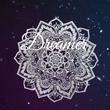 Dreamer    - Personalised Tea Towel: Premium