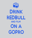 DRINK REDBULL AND FILM  ON A GOPRO - Personalised Tea Towel: Premium