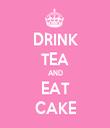 DRINK TEA AND EAT CAKE - Personalised Tea Towel: Premium