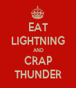 EAT LIGHTNING AND CRAP THUNDER - Personalised Tea Towel: Premium