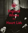 England Where My Heart Lies  - Personalised Tea Towel: Premium