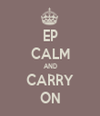 EP CALM AND CARRY ON - Personalised Tea Towel: Premium