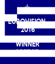 EUROVISION  2016   WINNER GREECE  - Personalised Tea Towel: Premium