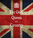 For God, Queen and Country  - Personalised Tea Towel: Premium