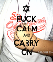 FUCK CALM AND CARRY ON - Personalised Tea Towel: Premium