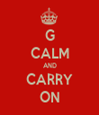 G CALM AND CARRY ON - Personalised Tea Towel: Premium