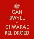 GAN BWYLL A CHWARAE PEL DROED - Personalised Tea Towel: Premium