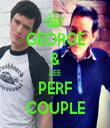 GEORGE & LEE PERF COUPLE - Personalised Tea Towel: Premium