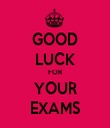 GOOD LUCK FOR YOUR EXAMS - Personalised Tea Towel: Premium