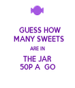 GUESS HOW  MANY SWEETS ARE IN THE JAR 50P A  GO - Personalised Tea Towel: Premium
