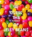 GUESS THE NUMBER  OF JELLY BEANS - Personalised Tea Towel: Premium