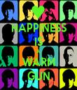 HAPPINESS IS A WARM GUN - Personalised Tea Towel: Premium
