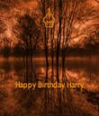 Happy Birthday Harry - Personalised Tea Towel: Premium