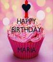 HAPPY BIRTHDAY   MARIA - Personalised Tea Towel: Premium