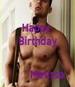 Happy  Birthday          Melissa - Personalised Tea Towel: Premium