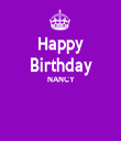Happy Birthday NANCY   - Personalised Tea Towel: Premium