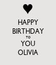 HAPPY BIRTHDAY TO YOU OLIVIA - Personalised Tea Towel: Premium