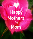 Happy Mothers  Day Mom   - Personalised Tea Towel: Premium
