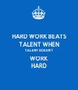 HARD WORK BEATS TALENT WHEN TALENT DOESN'T WORK  HARD - Personalised Tea Towel: Premium
