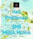 Hari Proklamasi  RMS MENA MURIA - Personalised Tea Towel: Premium