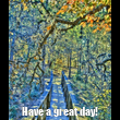 Have a great day! - Personalised Tea Towel: Premium
