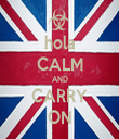 hola CALM AND CARRY ON - Personalised Tea Towel: Premium