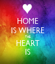 HOME IS WHERE THE HEART IS - Personalised Tea Towel: Premium