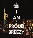 I AM A PROUD BREEZY - Personalised Tea Towel: Premium