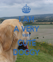 I AM A VERY VERY CUTE DOGGY - Personalised Tea Towel: Premium