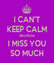 I CAN'T KEEP CALM BECAUSE I MISS YOU SO MUCH - Personalised Tea Towel: Premium