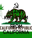 I CAN'T KEEP CALM I'M  FROM CALIFORNIA - Personalised Tea Towel: Premium