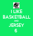 I LIKE BASKETBALL AND  JERSEY 6  - Personalised Tea Towel: Premium