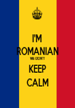 I'M  ROMANIAN WE DON'T KEEP CALM - Personalised Tea Towel: Premium