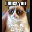 I miss you  My baby  . My love. MeMe - Personalised Tea Towel: Premium